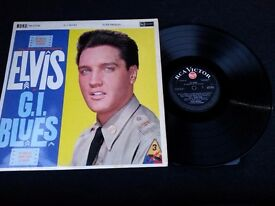 """Elvis Presley 12"""" LP. G I Blues Black Label - Red spot Rare edition very good condition"""