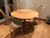 Ercol Chester range diming table and chairs