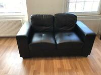 X2 Faux Leather Two Seater Sofas *Used*