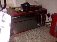 microwave in red