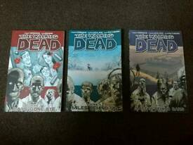 The Walking Dead comic Vol. 1, 2 and 3