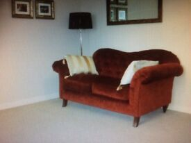2 matching sofas for sale, deep cherry red in colour. 6 months old, looks like new,