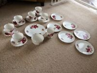 21piece bone china tea set