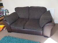 2 Seat Brown Sofa