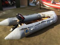 Zodiac Inflatable Rib + Tohatsu 5hp Outboard Motor