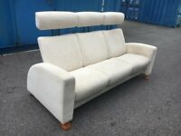 Ekornes Stressless Arion Reclining Sofa Cinema Style Adjustable Head Rest Possible Delivery