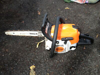 Gardening business job lot - mower, hedge cutter, strimmer, blower, chainsaw