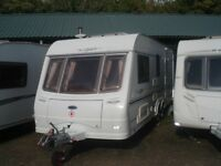 R&K CARAVANS TOP OF THE RANGE 2005 COACHMAN LASER 590/4 TWIN AXLE, 12 MONTHS WARRANTY