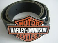 BRAND NEW HARLEY DAVIDSON BELT BUCKLE AND GENUINE LEATHER BELT WAIST 28 - 52 - XMAS GIFT
