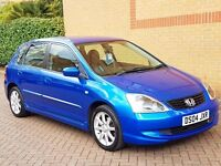 HONDA CIVIC 1.6 SE 5 DOOR AUTOMATIC FACELIFT MODEL, 2 OWNER CAR WITH FSH, AIR CON, CD, ALLOYS,