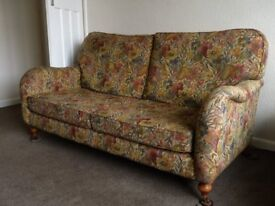 Scandecor brown and gold three seater settee