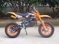 50cc Dirt Bike Scrambler Motocross Bike Upgraded PRO Version ALL COLOURS delivery possible £220