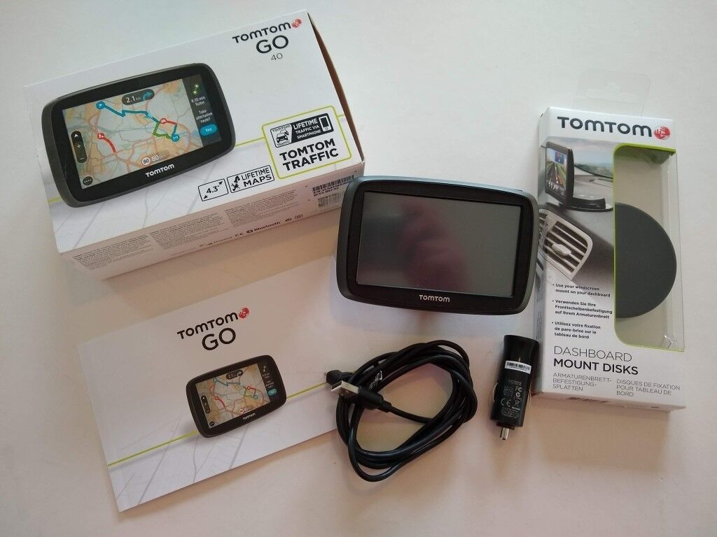TomTom GO 40, FREE Lifetime Maps, Traffic updates via Smartphone + TomTom  Dashboard Mount Disk | in Lisburn, County Antrim | Gumtree