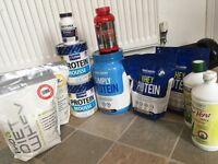 Gym protein and aloe Vera stuff