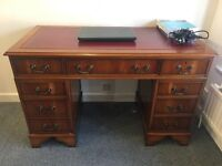 Office furniture for sale - 3 desks, 2 chairs, 1 chest of drawers