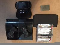 PS3 Mega Bundle 60gb version with 320gb HD fitted plus PS vita and PS TV and loads of games