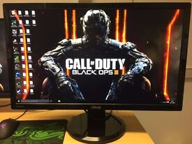 Asus VG278HV 27 inch Gaming Monitor, 144 Hz, 1 ms, 1920 x 1080, HDMI, DVI, Height Adjustable