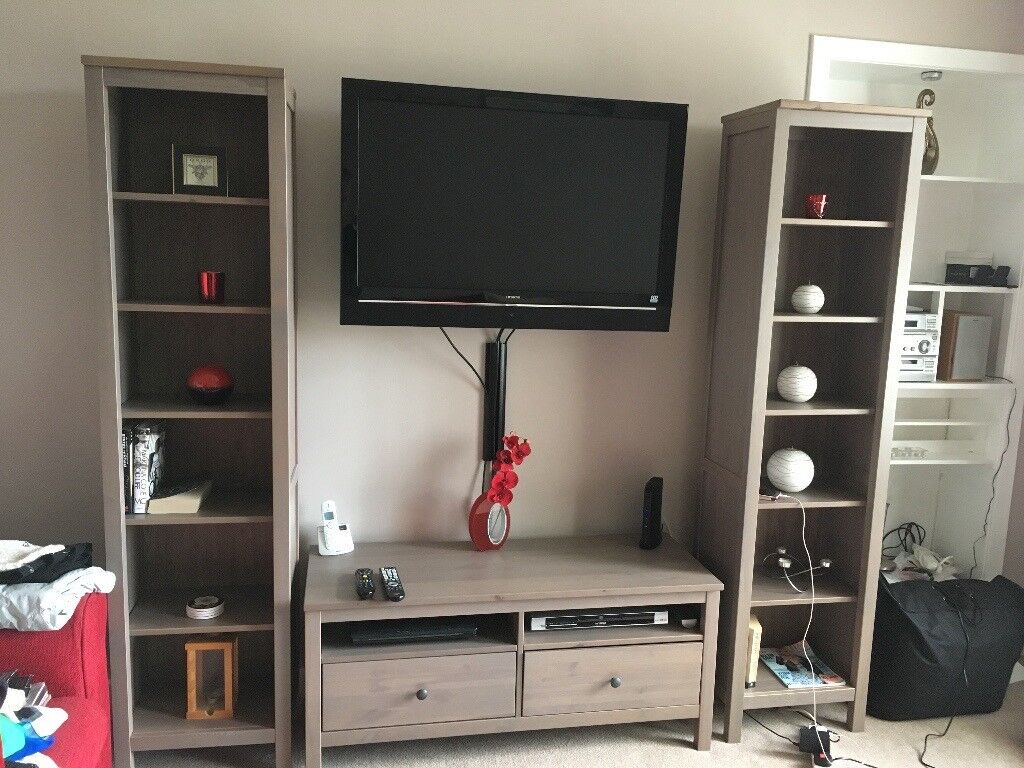 Tv Stand And Matching Bookcases Pair In Newlands Glasgow