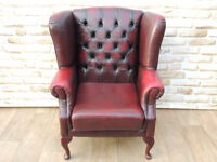 Queen Anne wing armchair (Delivery)