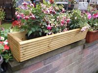 Planter, Plant Stand, wooden, for walls or window sills