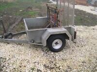5x4 car trailer ball hitch single axle