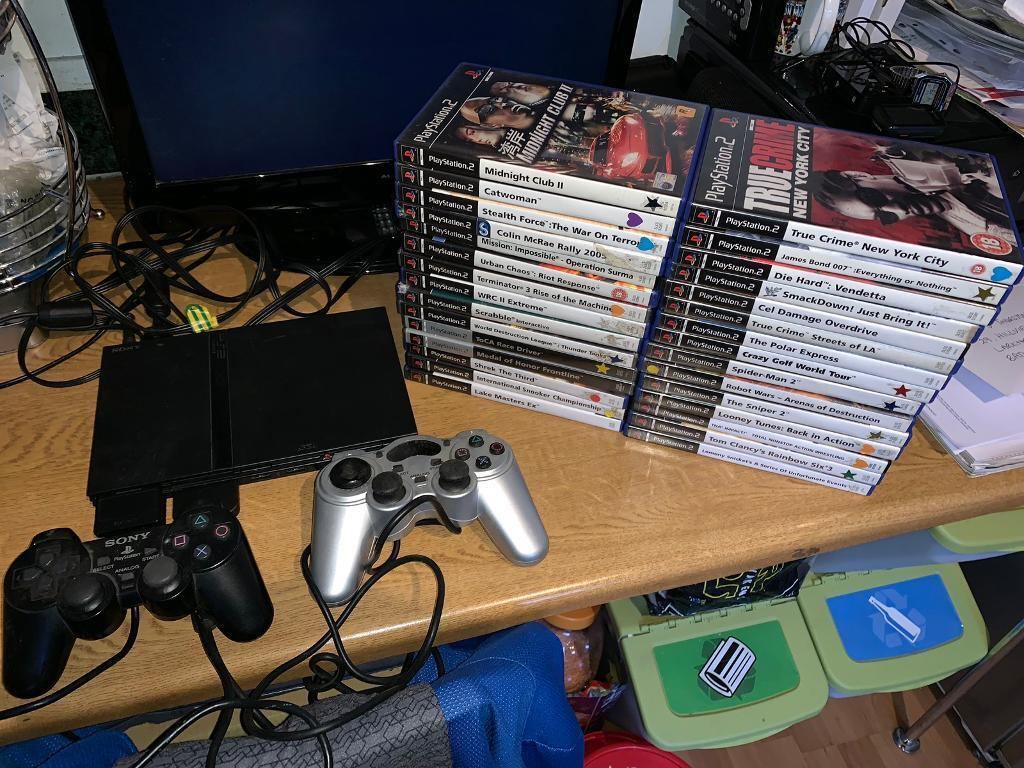 Sony ps2 PlayStation 2 slim console & 30 games   in Bath, Somerset   Gumtree