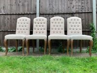 FOUR John Lewis Hudson Living Maison Tufted Dining Chairs