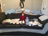 Reborn doll with clothing