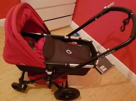 Black n Red 3in1 BugaBoo Travel System