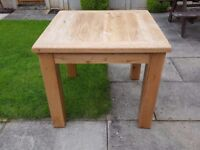 Solid Oak Small Dining Table New