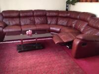 Real leather manual sofa
