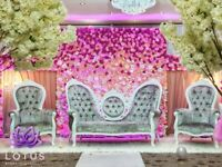 Wedding Stage Hire From £450, Mehndi Stage, Walkway Hire, Center Pieces, Fur Carpet