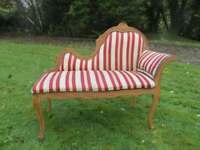 A Beautiful Striped Small Chaise Longue