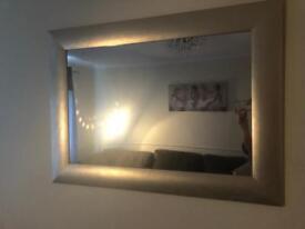 Gold affect mirror