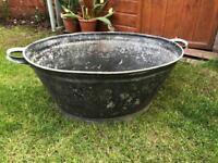 Tin Bath Planter