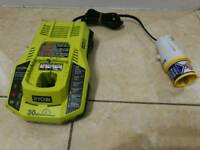ryobi p117 charger 120v