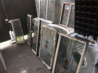Antique Stained / Coloured Glass Windows Many Available W-R