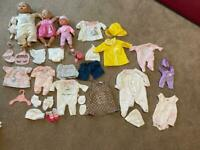 Baby doll bundle Baby Annabell & Baby Born dolls clothes accessories