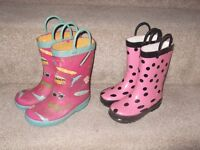 2 pairs of wellies, as seen, see description for further details collect/delivery Stonehaven