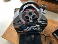 MadCatz 2 Racing Wheel and Pedals, Like New Still in Boxes (2 Available)