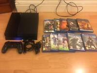 SONY PS4 CONSOLE plus 10 games & blu rays BUNDLE