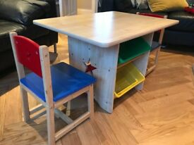 GLTC Children's Table and 2 Chairs with storage