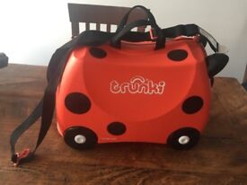 Trunki Ride on Childrens Suitcase Red Ladybird Design