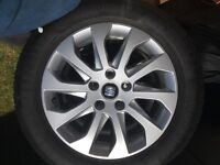 "Seat Leon 2016 16"" alloys wheels with tyres"