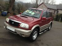 HI SPEC SUZUKI GRAND VITARA 5 DR 4WD/LOW MILES/ NEW MOT/ IDEAL SIZE 4WD/LIKE FREELANDER/X TRAIL