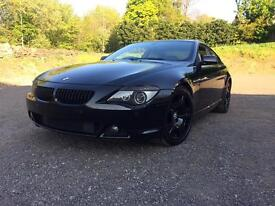 BMW 645ci 4.4 V8 Auto in Black, Black wheels, lights, windows and grilles, FSH, 12 months MOT