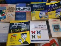 Lots of computer books.