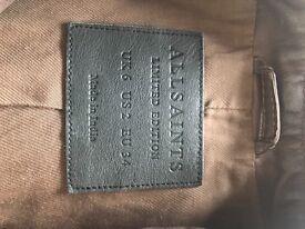 All saints leather jacket like new