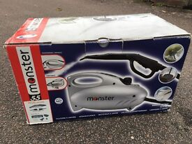 Monster steam cleaner with attachments