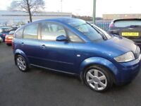 AUDI A2 1598cc FSI SPORT 5 DOOR HATCH 2005-05, 122K FROM NEW WITH LOADS OF SERVICE HISTORY